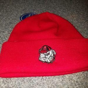 Georgia Bulldogs knit hat